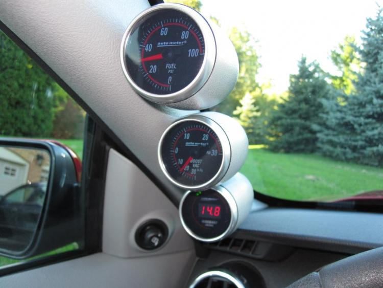 SOS Pilar Pod and Auto Meter NEXUS Fuel Pressure, Boost/Vacuum and Wideband Air/Fuel Ratio Gauges