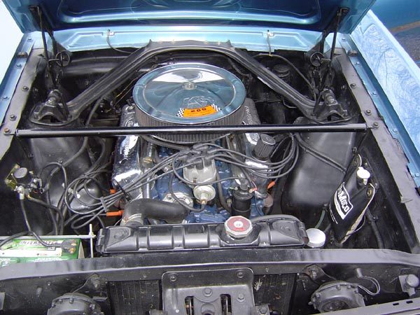 Standard 289 cu in engine bay