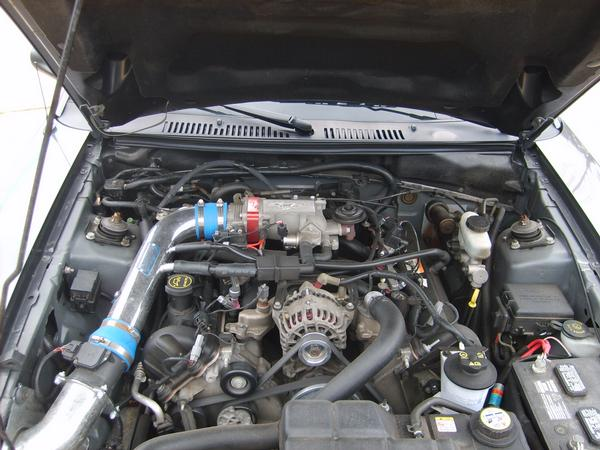 Stock Motor Except BBK Cold Air Intake and Throttle Body Spacer