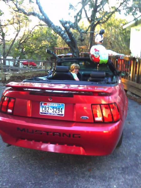 Tim's new car  2002 V6 Covertible Mustang