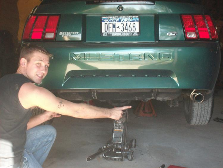 When I put the duel Mach 1 Exhaust on.